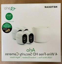 Arlo 4-PACK Wire-Free Home Security Camera Kit w/ Base Stati