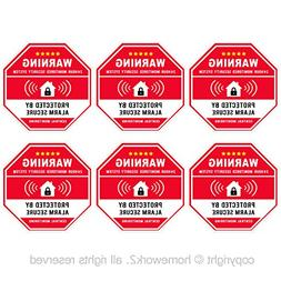 Authentic Home Security, Red Octagon-Shaped, 3.3 X 3.3 Inch