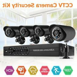 BEST 4CH Home Security Camera System 1080N HDMI HD 4*720P Ou