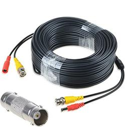 AT LCC 150ft Black Extension Power/Video Cable for Swann Sec