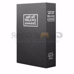Black Small Home Security Dictionary Book Safe Storage Key L