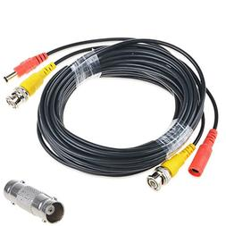 AT LCC 50ft Black Video Power BNC Cable Cord Lead Wires for