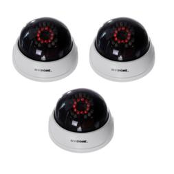 3 x Blinking Flash LED Dummy Cameras Fake CCTV Bullet Home S