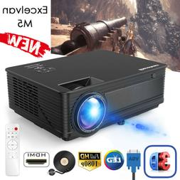 "7000LMS 1080P LED Projector Multimedia Home Theater 120"" Vid"