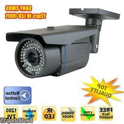 "CCTV Bullet Home Security Camera 1200TVL 1/3"" Cmos 2.8-12mm"