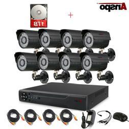 Anspo CCTV Security Camera System 4/8CH AHD 1080N DVR Home S