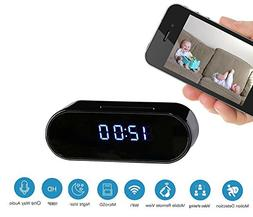 Clock Hidden Camera : 2018 New Upgraded Version WiFi with Fu
