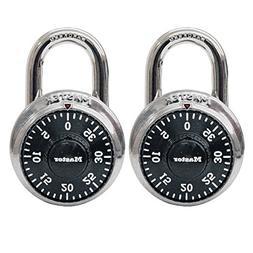 Master Lock Combination Lock, Stainless Steel, 1 7/8 Wide, B