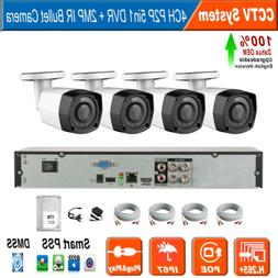 Dahua OEM 4CH DVR Security System 4x HD 2MP Bullet Surveilla