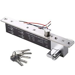 UHPPOTE 12VDC Electric Drop Bolt Lock Key Open Fail Secure W