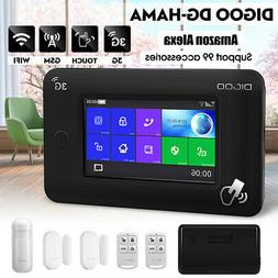 DIGOO DG-HAMA Touch Screen 3G Smart Home Security Alarm Syst