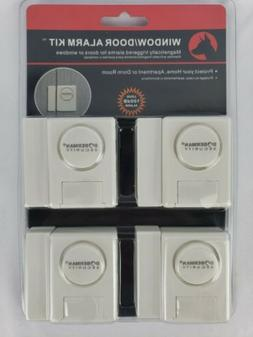 Doberman Home Security Window Door Alarm Kit 4 Pack 100 dB A