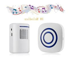 Door Chime,Wireless Business Door Motion Sensor Detector Sma