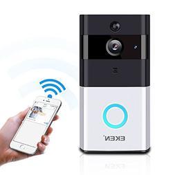 EKEN Video Doorbell 720P HD Wifi Camera Real-Time Video Two-