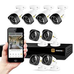 Defender HD 1080p 8 Channel 1TB DVR Security System and 8 Bu