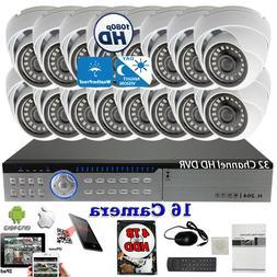 Evertech 32 Channel HD DVR w/ 16 pcs 4in1 AHD TVI CVI Analog
