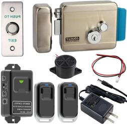 electric gate lock and wireless remote control