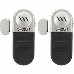 Doberman Security Entry Defence Alarm - 2 Pack Alarm, Black/