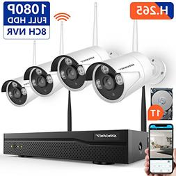 1080P Security Camera System Wireless,SMONET 8CH H.264 PRO
