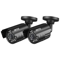 ZOSI 2 Pack Bullet Fake Security Camera with Red Light,Dummy