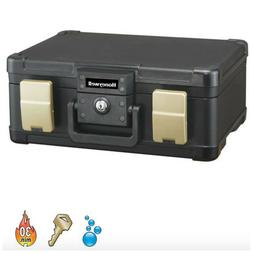 Honeywell Fire/Water Keylock Chest - 0.27 Cu. Ft., 15.9in.W