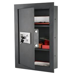 Flat Electronic Wall Safe For Jewelry or Gun Security - Para