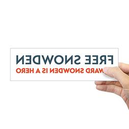 "CafePress Free Snowden Bumper Sticker 10""x3"" Rectangle Bumpe"