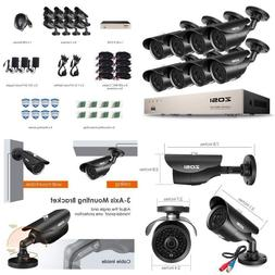ZOSI FULL 1080P HD-TVI 8CH Security Camera System, ,8 Channe