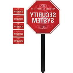 GE 45400 Security Yardstake Sign with Window Stickers electr