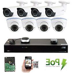 GW Security 8CH 5 Megapixel 1920P Video Home Security Camera