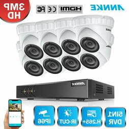 ANNKE H.264+ 3.0MP Home Security Alert System 5in1 8CH DVR I