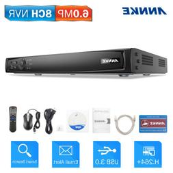 ANNKE H.264+ 8CH 6MP NVR POE CCTV Video Smart Search Securit