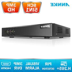 ANNKE H.264+ 8CH TVI HD 3MP DVR Video Recorder for CCTV Home
