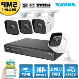 ANNKE H.265+ 5in1 4K Video 8CH DVR HD 5MP CCTV Home Security