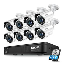 ZOSI H.265+ DVR 1080P CCTV Camera Home Security System  IR N