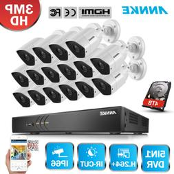 ANNKE HD 3MP Home Security Camera System 16CH DVR Video CCTV