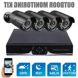 HD 4CH 1080N HDMI DVR 1500TVL Outdoor IR CCTV Home Security