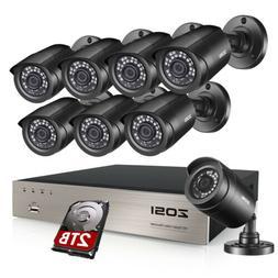 ZOSI 8CH H.265 5MP Lite DVR 1080P Home Security Camera Syste