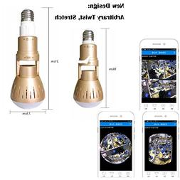 Upgrade Wireless Bulb Hidden Camera -LiyaHa 360 Degree Panor