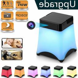 Hidden Wireless Spy Cameras Night Light WiFi Nanny Cam Lamp