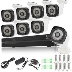 Home Security 8CH 1080P POE Set Night Vision HD Surveillance