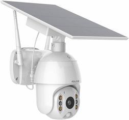 Home Security Camera Outdoor Pan Tilt Spotlight Solar Batter