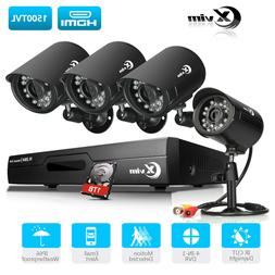 XVIM Home Security Camera System 4CH DVR 1TB HDD 4 HD 720P S