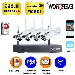 EVERGROW Home Security Camera System Surveillance 4CH CCTV D