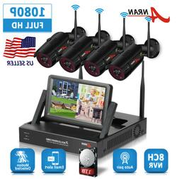 ANRAN Home Security Camera System Wireless 4CH 1080P With 1T