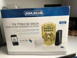 home security kit keypad deadbolt bright brass