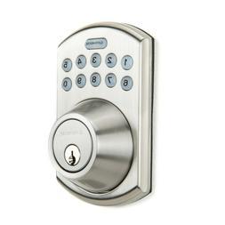 Gatehouse Home Security Satin Nickel Key-less Deadbolt and K