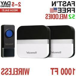 Home Security Wireless Driveway Alarm Doorbell Garage Smart