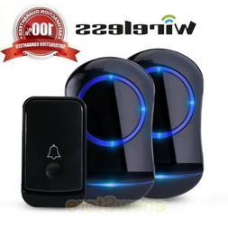 Home Security Wireless Driveway Door Doorbell Garage 2Plug-i
