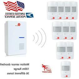 Home Security Wireless Driveway Alarm Doorbell Garage PIR Mo